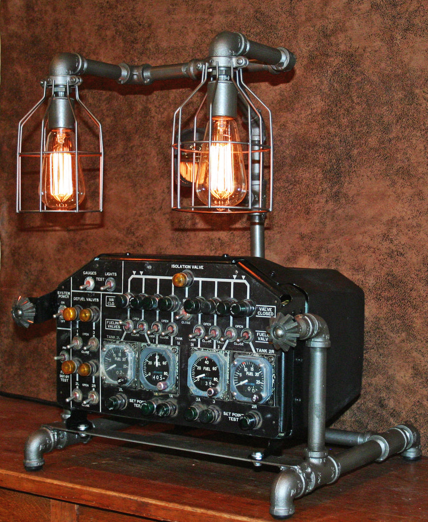Steampunk Lamp Aviation Machine Age Lamp 3 Sold
