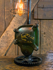 Steampunk Industrial / John Deere Gear Case Cover / Gear / Farm / Lamp #3171