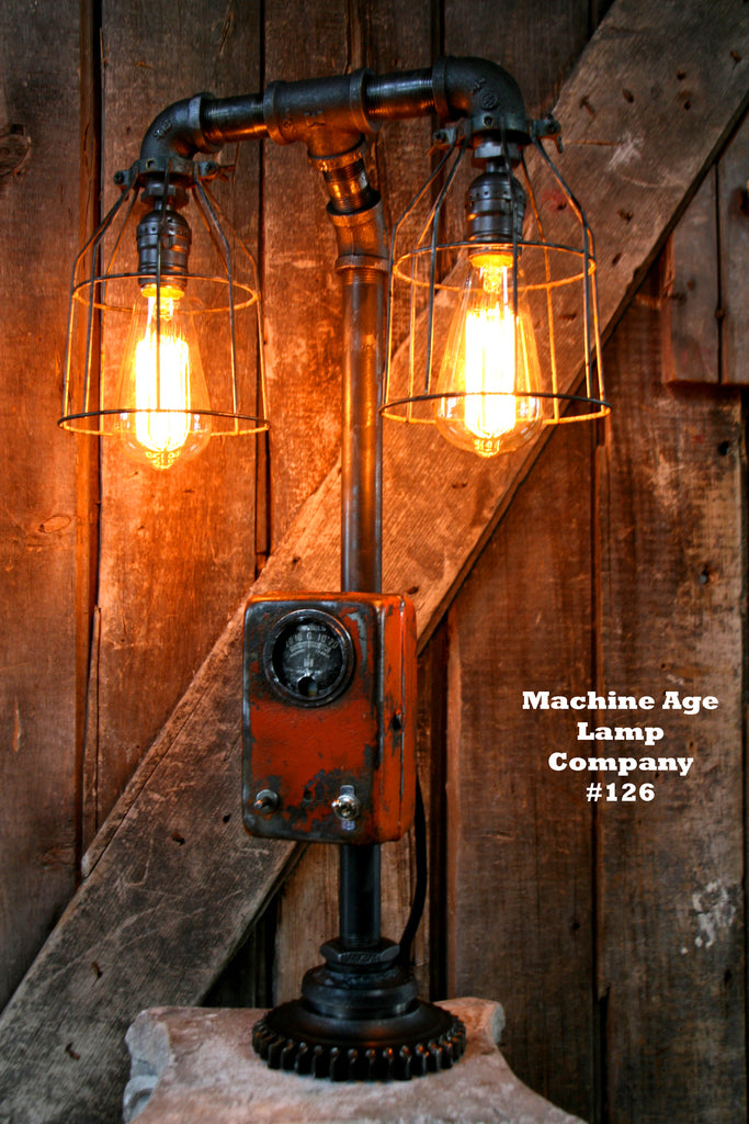 Allis Chalmers Table Lamp : Steampunk lamp by machine age lamps industrial allis