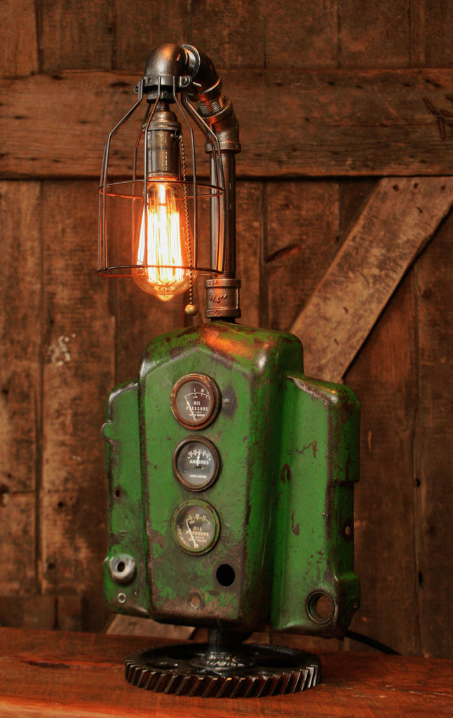 Steampunk Lamp, Machine Age Lamp, John Deere Tractor Dash Farm - #97