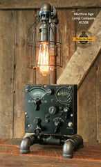 Steampunk Industrial Lamp / Aircraft WW2 Navigation Instrument / Aviation / #1508
