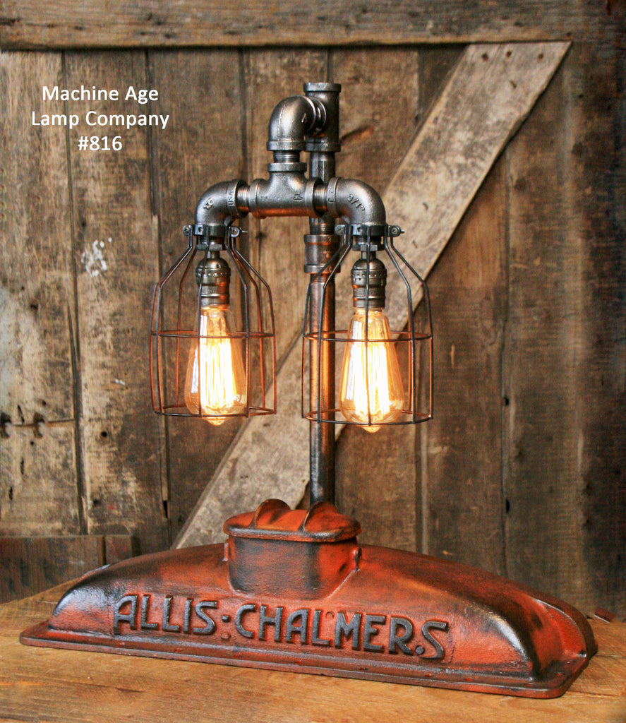 Allis Chalmers Table Lamp : Steampunk industrial allis chalmers radiator top lamp