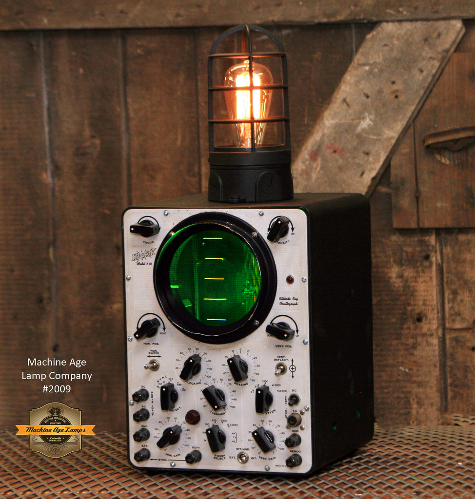 Steampunk Industrial Lamp Oscilloscope Nautical Sonar Boat  - #2009