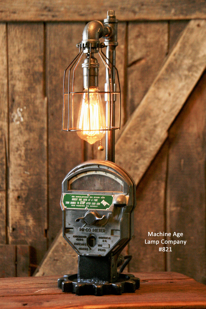 Steampunk Industrial, Antique Parking Meter Lamp #821 - SOLD