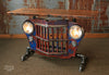 Steampunk Industrial Antique Jeep Willys Grille Table, Console - #1446