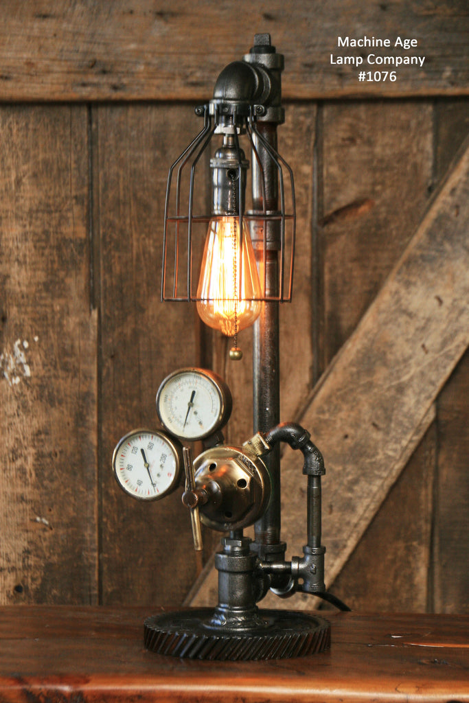 Perfect Steampunk Industrial Lamp, Antique Brass Regulator #1076 Sold