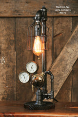Steampunk Industrial Lamp, Antique Brass Regulator #1076 sold
