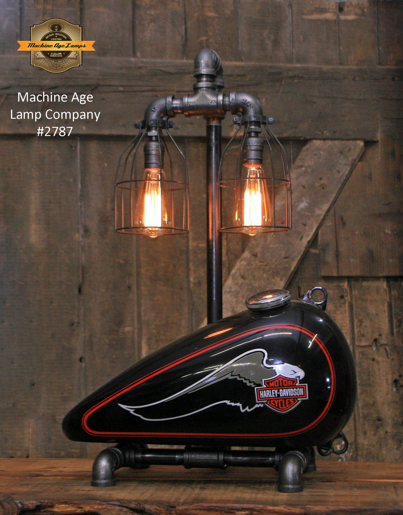 Steampunk Industrial, Authenictic Motorcycle HD Gas Tank Lamp  #2787