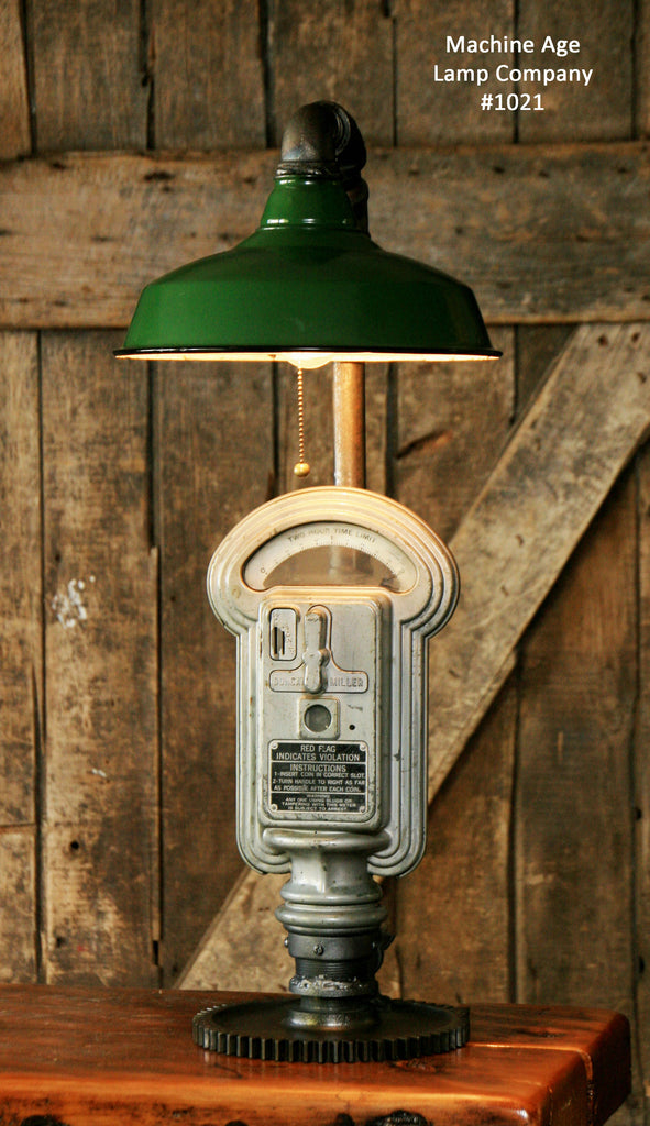 Steampunk Industrial Lamp, Duncan Miller Parking Meter #1021 - sold
