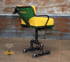 Steampunk Industrial Antique John Deere Tractor farm Chair Chairs Bar Stool #1735