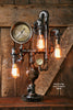 Steampunk Industrial Lamp / Gear / Steam Gauge / Chicago - #1404