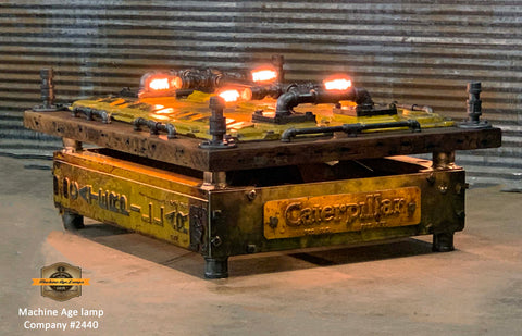 Steampunk Industrial Coffee Table / Vintage Caterpillar Dozer / Barnwood / #2440 sold