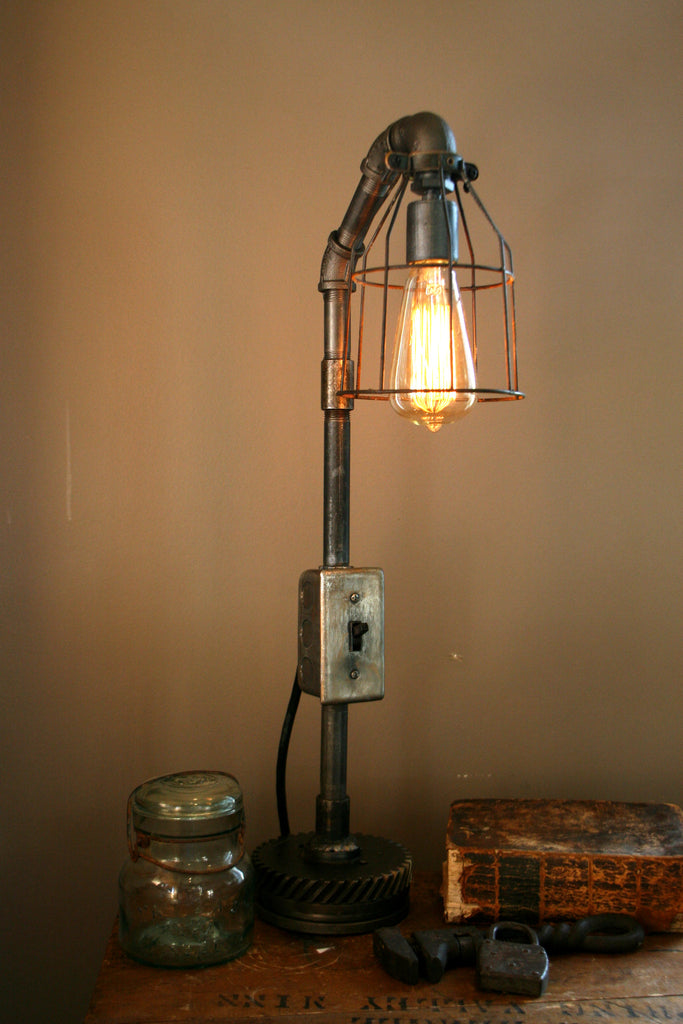Steampunk Industrial Light Machine Age Lamp #82 - SOLD