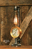 Steampunk Lamp, Steam Gauge and Gear Base, #951