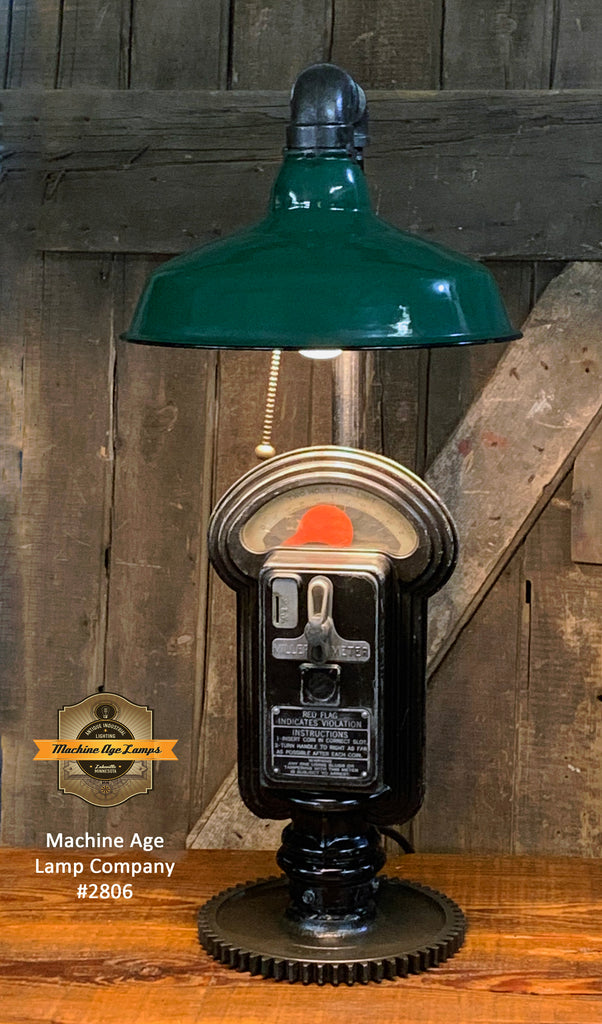 Steampunk Industrial / Duncan Parking Meter / Shade / Automotive / Lamp #2806