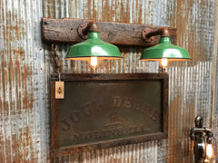 Steampunk Industrial / John Deere / Farm Combine / Antique 1900's panel / Wall Sconce /  #1640
