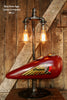 Steampunk Industrial Lamp, Vintage 1930's Chief Indian Motorcycle Gas Tank #412 - SOLD