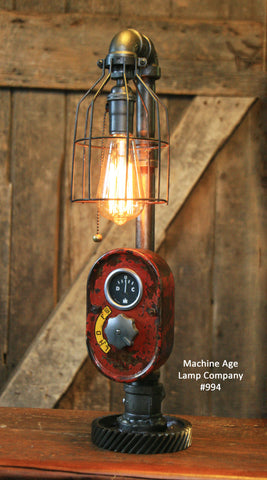 Steampunk Lamp, Antique Farmall Tractor Dash Farm Lamp #994