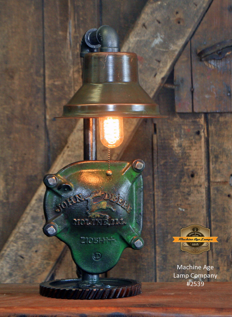 Steampunk Industrial / John Deere Gear Case Cover / Gear / Lamp #2539