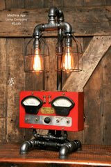 Steampunk Industrial Lamp / Electrical Meter / Chicago  / #1235 - SOLD