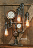 Steampunk Industrial Lamp / Steam Gauge /  Kewanee IL #1207 sold