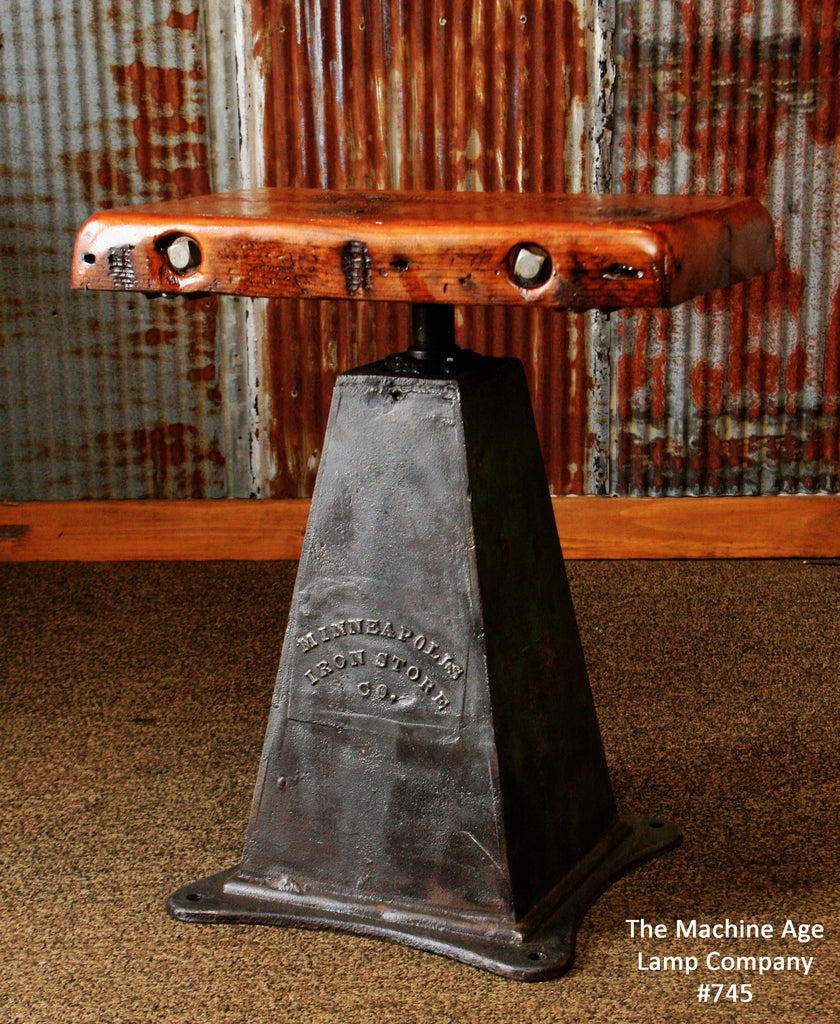 """Antique Industrial Table Lamp Stand Iron Base """"Minneapolis ..."""