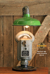 Steampunk Industrial Gear Parking Meter Desk Lamp, Duncan Miller / Automotive  /  #2170 sold