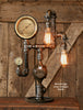 Steampunk Industrial Lamp / Gear / Steam Gauge /  Texas /  #1406