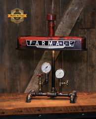 Steampunk Lamp, Antique Farmall Tractor Valve Cover Farm Lamp #2720