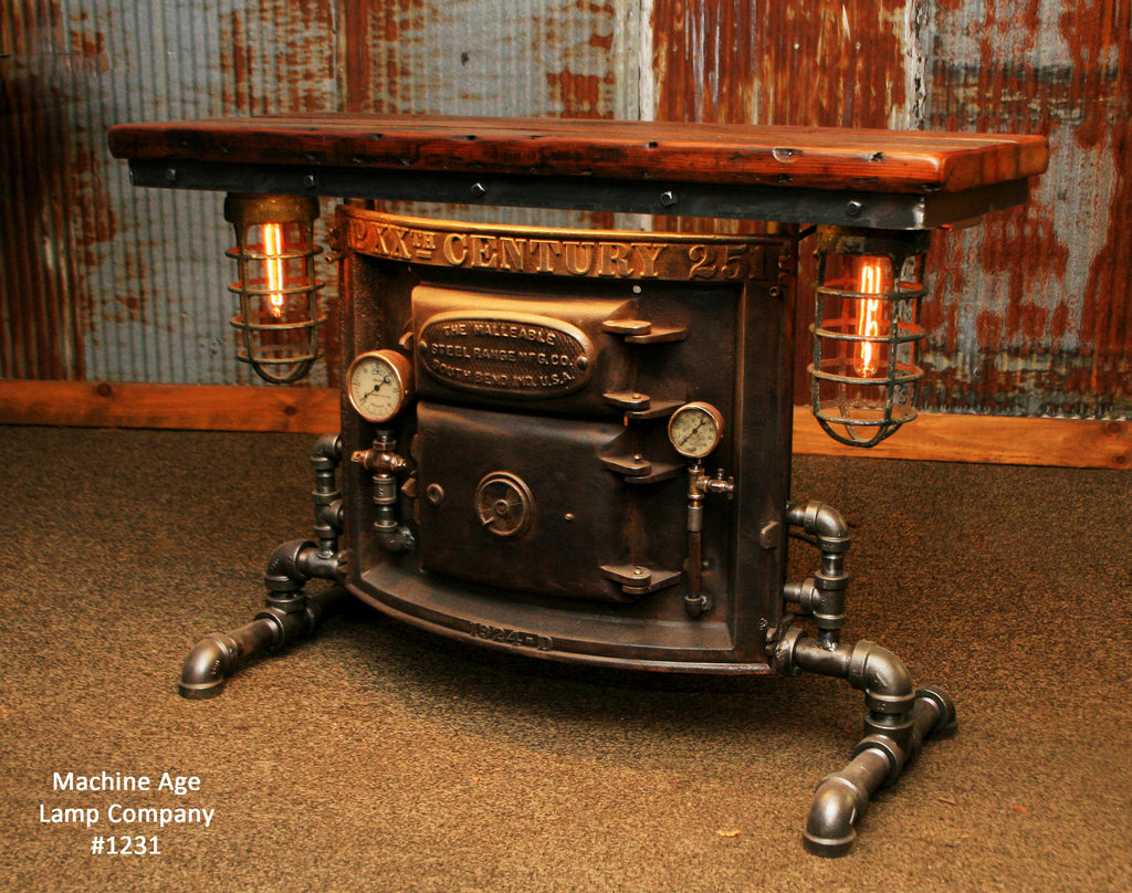 Steampunk Industrial Table/ Console / Side/ Hallway / Boiler Door /  #1231 - SOLD