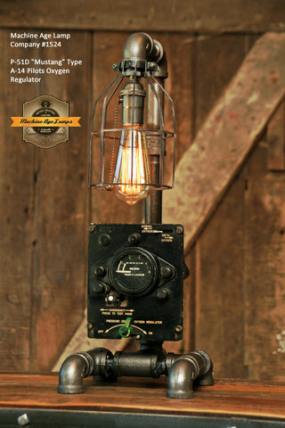 "Steampunk Industrial / P-51D ""Mustang / Aviation / Airplane Instrument Panel / Lamp #1524"