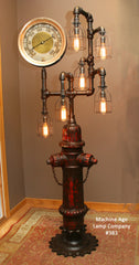 Industrial 1923 Antique ST Paul Fire Hydrant Floor Lamp, with Steam Gauge - #383 - SOLD