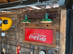 Steampunk Industrial Wall Sconce / Antique Coke Sign  / Lamp #2001 sold