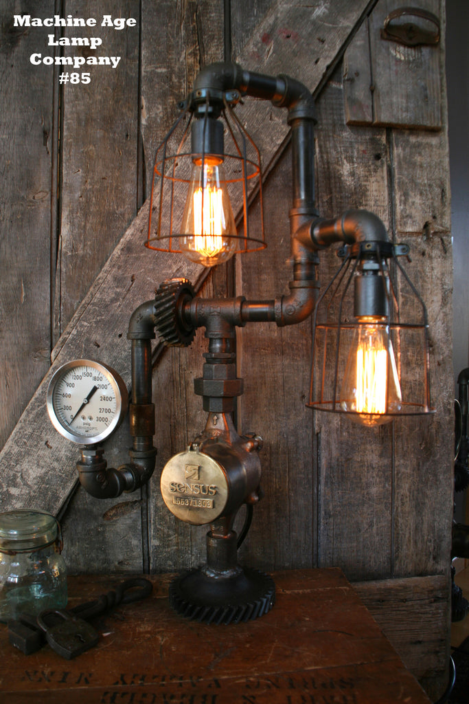 Steampunk Industrial Machine Age Lamp #85