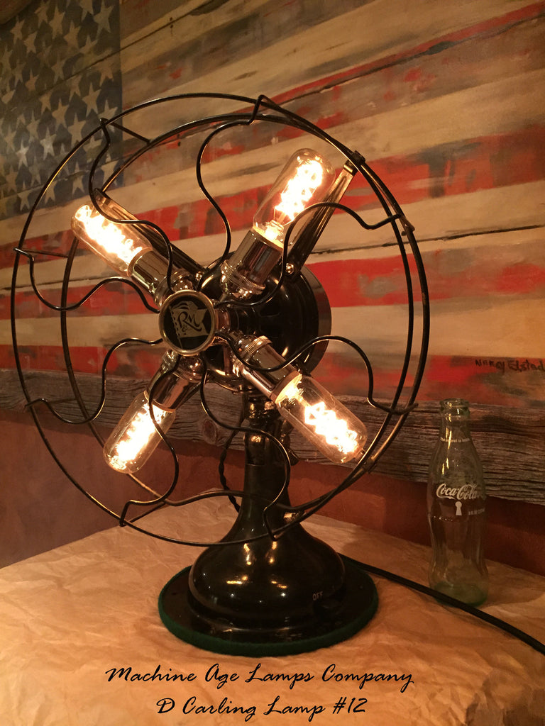 Steampunk Antique Industrial Re Purposed Robbins Amp Myers Fan Lamp D