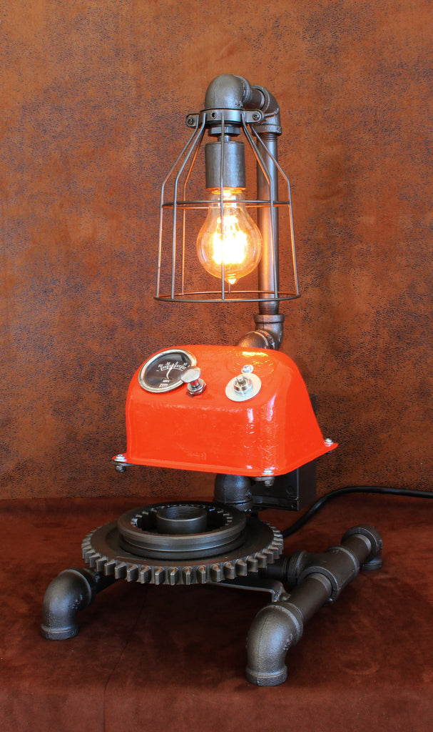 Steampunk Lamp Antique Allis-Chalmers Farm - CC15 sold