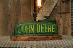 "Steampunk Industrial / Antique John Deere ""A"" Farm Tractor Radiator / Lamp / #2179"
