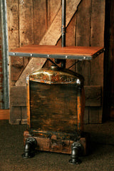 Steampunk Industrial Minneapolis Moline Farm Tractor Floor Table Stand Lamp - #737 - SOLD
