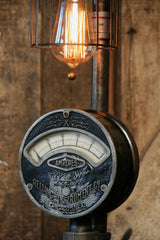 Steampunk Industrial Electrical Meter / Gauge Lamp Light / Chicago / #1205 - SOLD