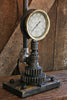 Steampunk Lamp, Antique Barn Wood and Pressure Gauge - #164 - SOLD