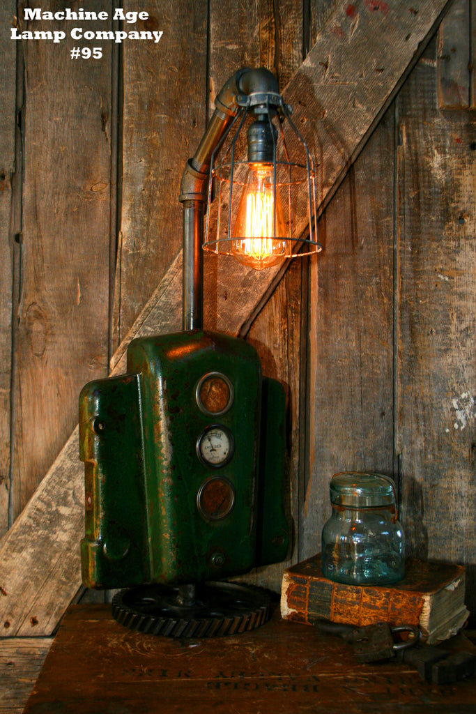 Steampunk Lamp, By Machine Age Lamps, John Deere Tractor Dash Farm - #95 - SOLD
