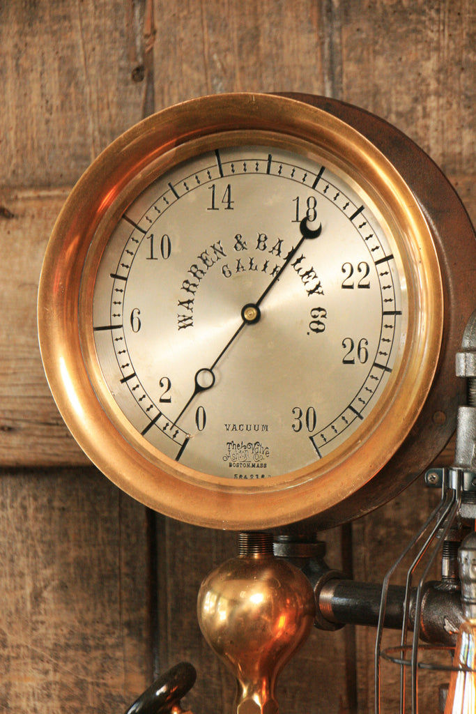 Steampunk Industrial Rare Steam Gauge Brass Oiler 855 Sold