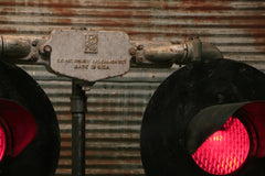 Steampunk Industrial / Railroad Crossing Light / Locomotive / Train Light Floor Lamp / #1649 - SOLD