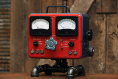 Steampunk Industrial Lamp / Antique Sun Volt Meter / Automotive /  #1739 sold