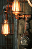 Steampunk Industrial Desk Lamp,  Steam Gauge #955