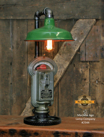 Steampunk Industrial Gear Parking Meter Desk Lamp / Duncan Miller / Automotive / #2544