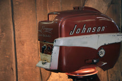 Steampunk Industrial / Antique Johnson Boat Motor / Nautical / Marine / Cabin / Lamp #3121