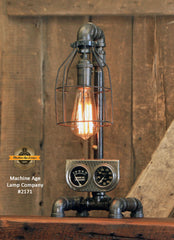 Steampunk Industrial Machine Age Lamp / Steweart Warner / Automotive / #2171