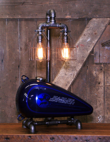 Steampunk Industrial, Original Motorcycle HD Gas Tank Lamp  #2684
