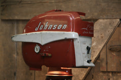Steampunk Industrial / Antique Johnson Boat Motor / Nautical / Marine / Cabin / Lamp #1805 sold